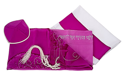 TREE OF LIFE Pink Tallit set For Woman