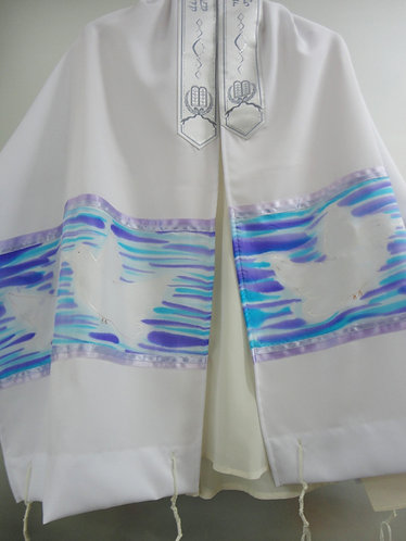 Kissing Doves of Peace prayer Shawl Tallit