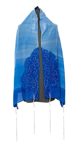 TREE OF LIFE Blue Tallit set For Woman