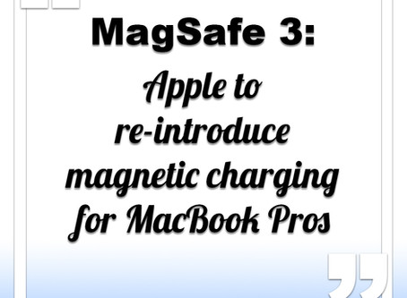 Apple to re-introduce magnetic charging port for MacBook Pros