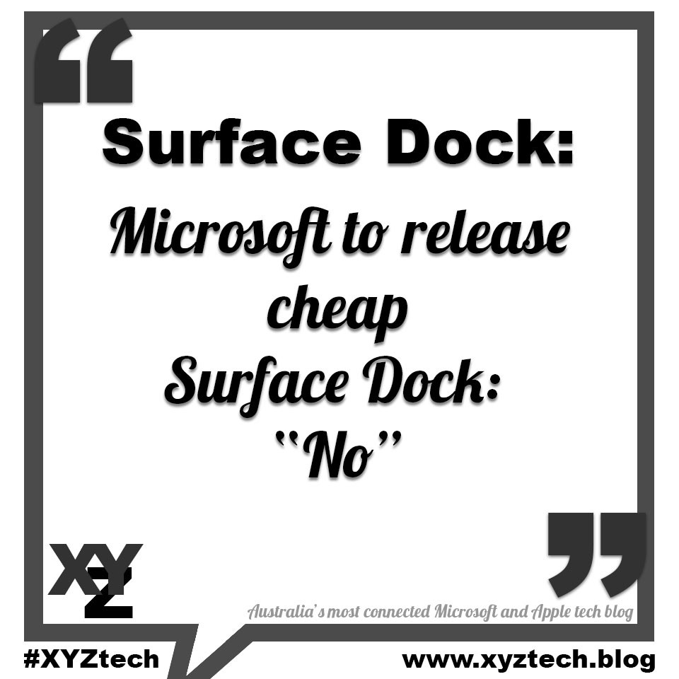 Surface Dock: Microsoft to release cheap Surface Dock