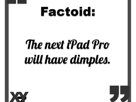 The next iPad Pro will have dimples