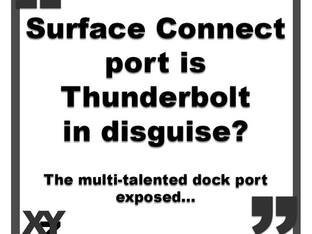 Surface Connect is Thunderbolt in disguise