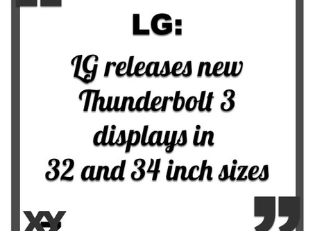 LG releases new Thunderbolt 3 displays