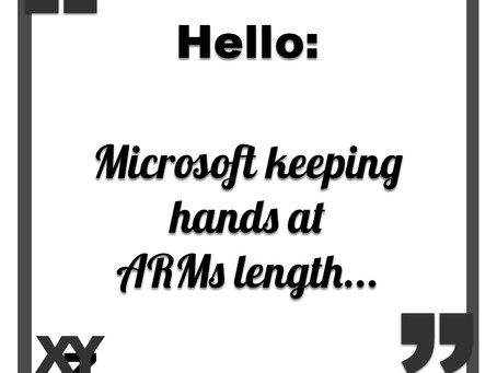 Microsoft keeping hands at ARMs length