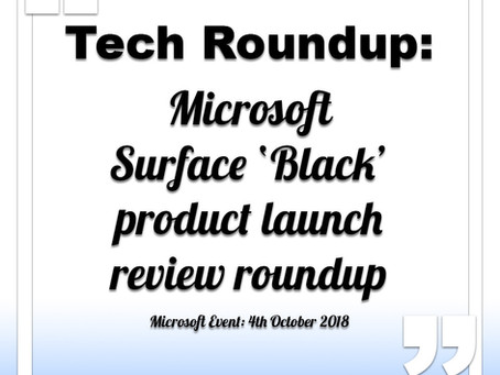 Microsoft Surface Black Launch Roundup