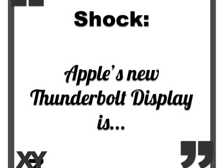 Apple's new Thunderbolt display is....
