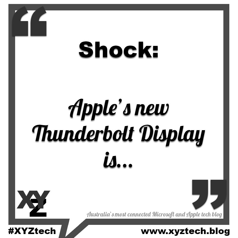 Shock: Apple's new Thunderbolt Display is...