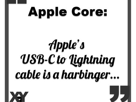 Apple's USB-C to Lightning cable is a harbinger