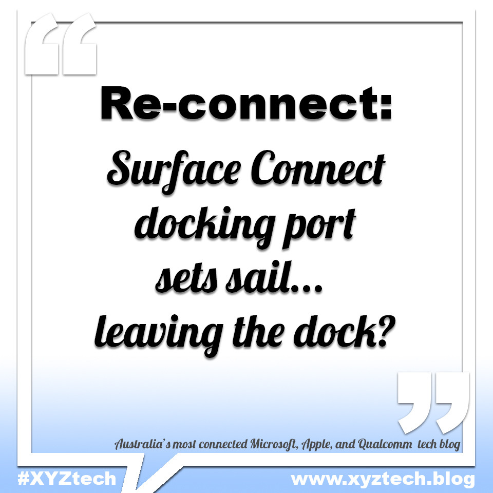Surface Connect docking port sets sail