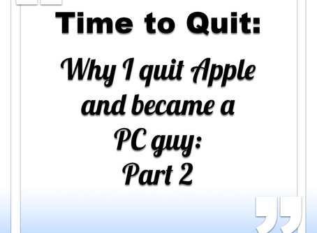 Leaving Apple for the PC