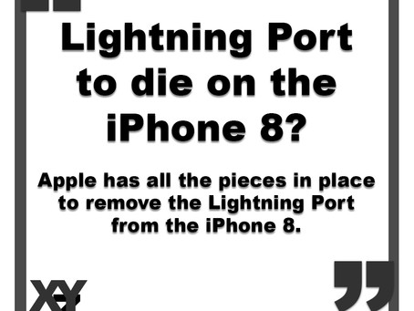 Lightning Port to die on iPhone 8?