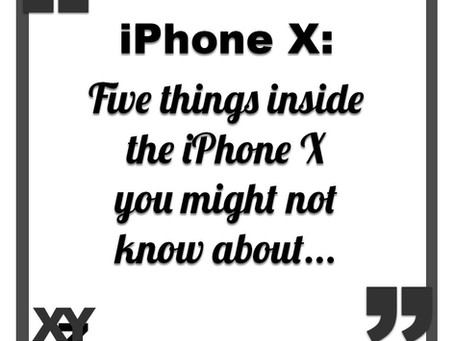 Five Things in the iPhone X