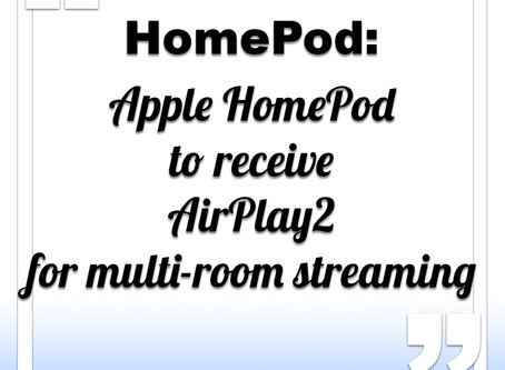 HomePod to receive AirPlay2 update