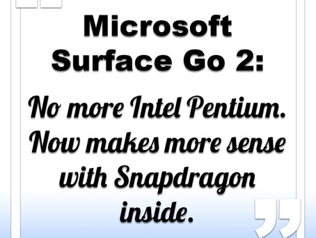 Microsoft Surface Go 2 to get its Snapdragon on