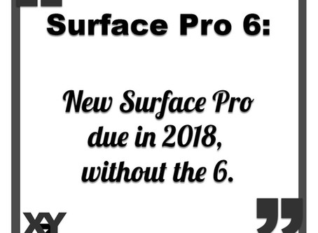 Surface Pro 6 due in 2018, without the 6