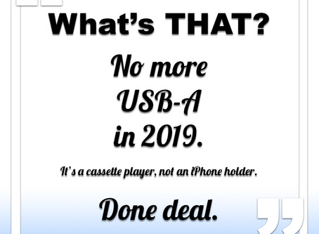 No USB-A in 2019