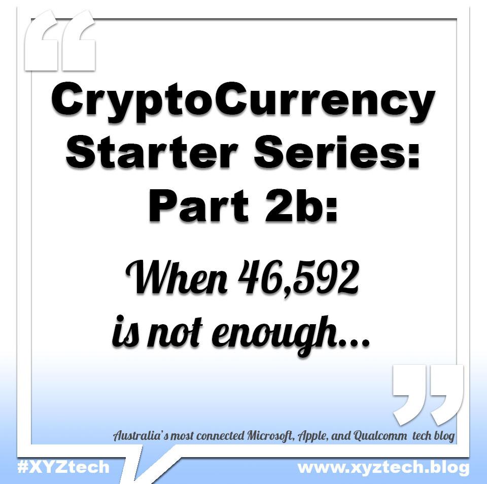 Bitcoin: When 46,592 is not enough #XYZtech