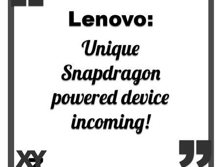 Lenovo to debut a unique Snapdragon device