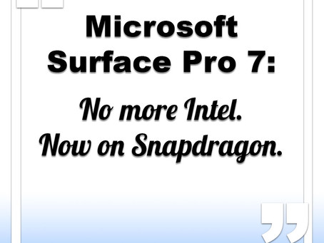 Microsoft Surface Pro 7 to feature Snapdragon chip