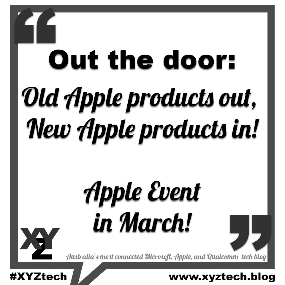 Out the door: Old Apple products out, new Apple products in.