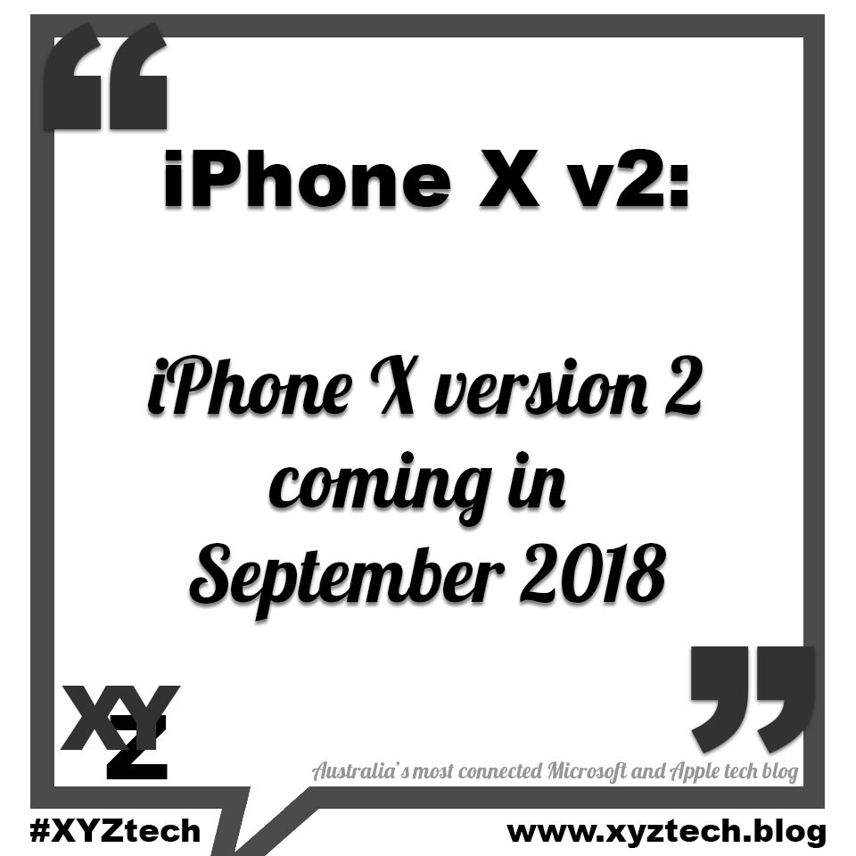iPhone X version 2