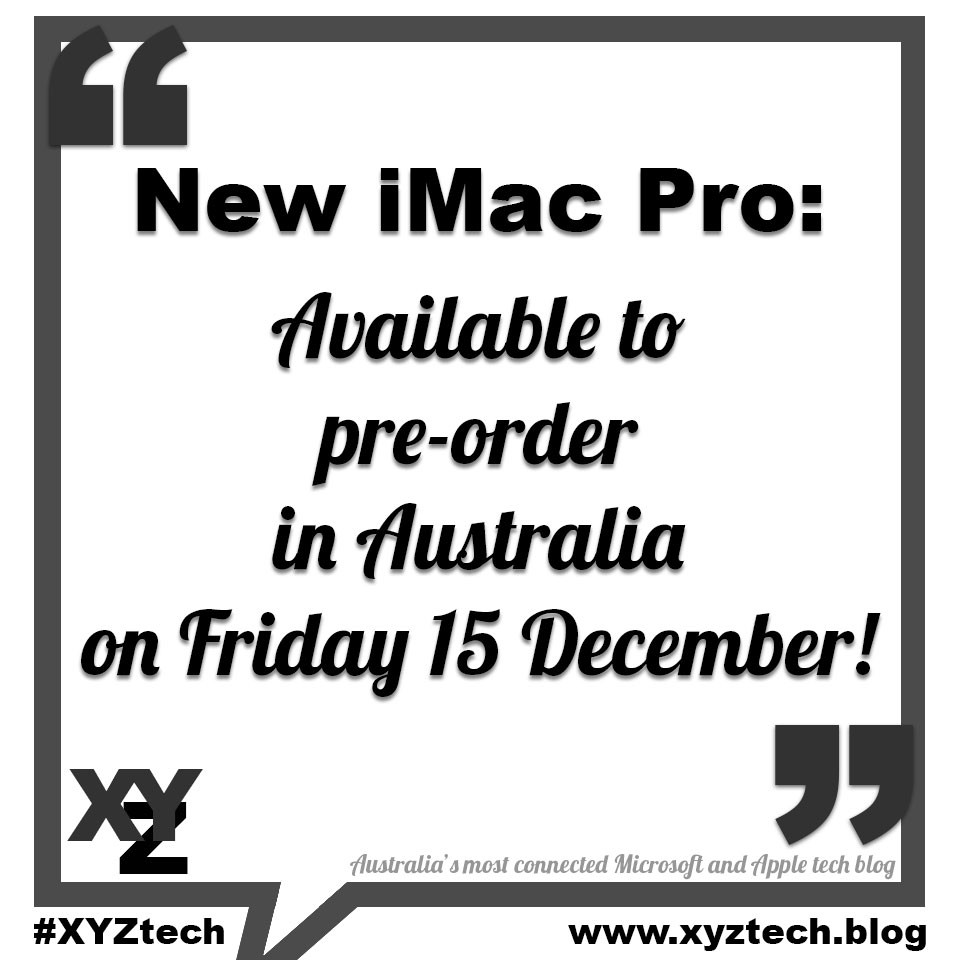 New iMac Pro available to pre-order in Australia