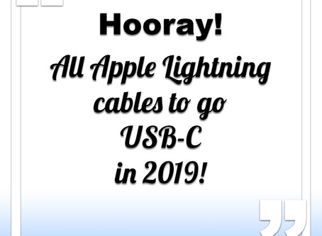All Apple Lightning cables to go USB-C in 2019