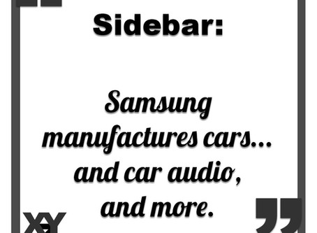 Sidebar: Samsung makes cars... and car audio