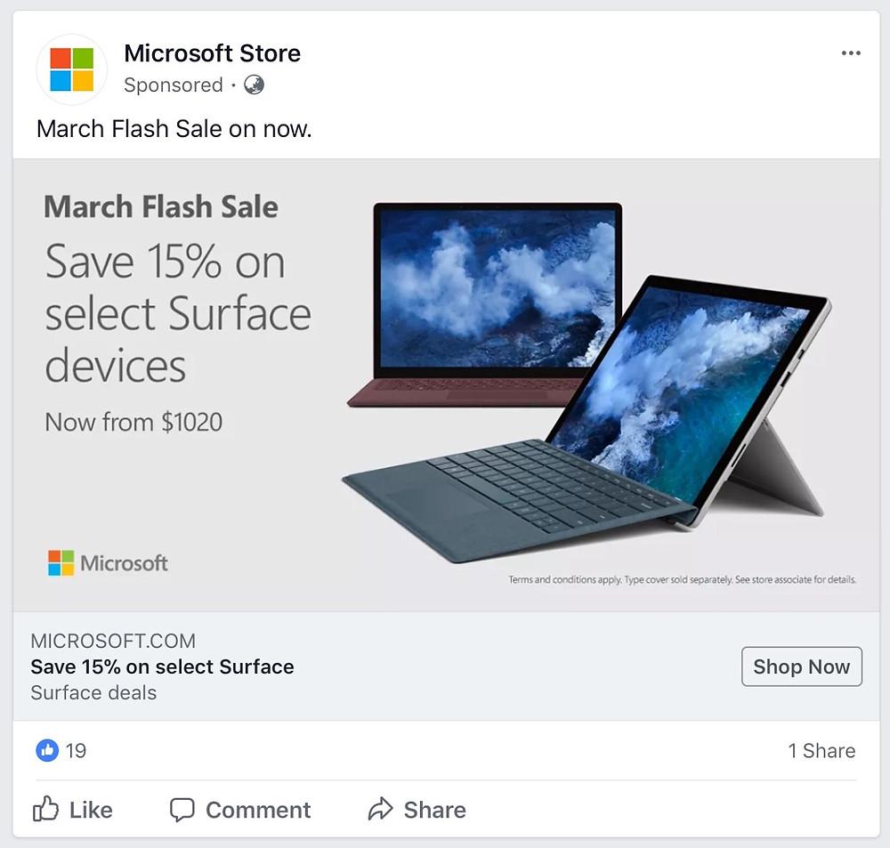 Microsoft Store advertisement