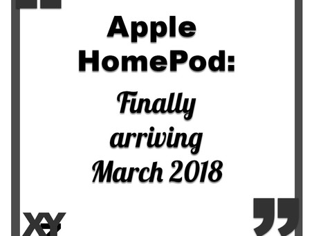 Apple HomePod coming March 2018