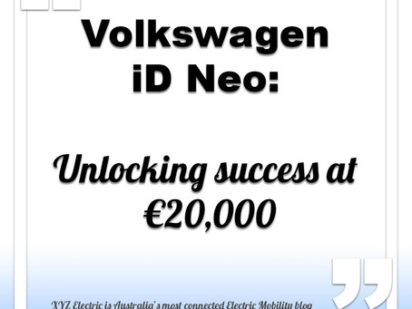 Volkswagen iD Neo to start from €20,000