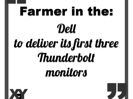 Dell to deliver Thunderbolt monitors