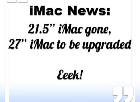 Apple to refresh iMac range in October 2018