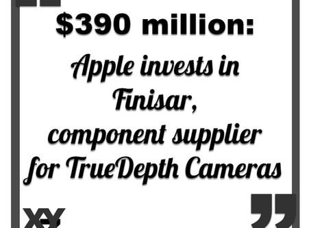 Apple is investing $390 million in TrueDepth Camera supplier Finisar