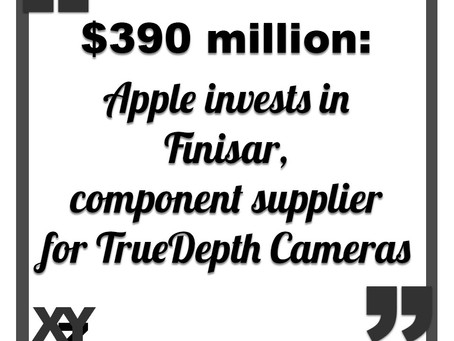 Apple is investing $390 million in TrueDepth Camera supplier Finisar