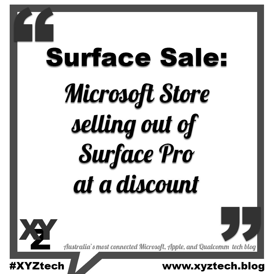 Surface Sale: Microsoft Store selling out of Surface Pro at a discount