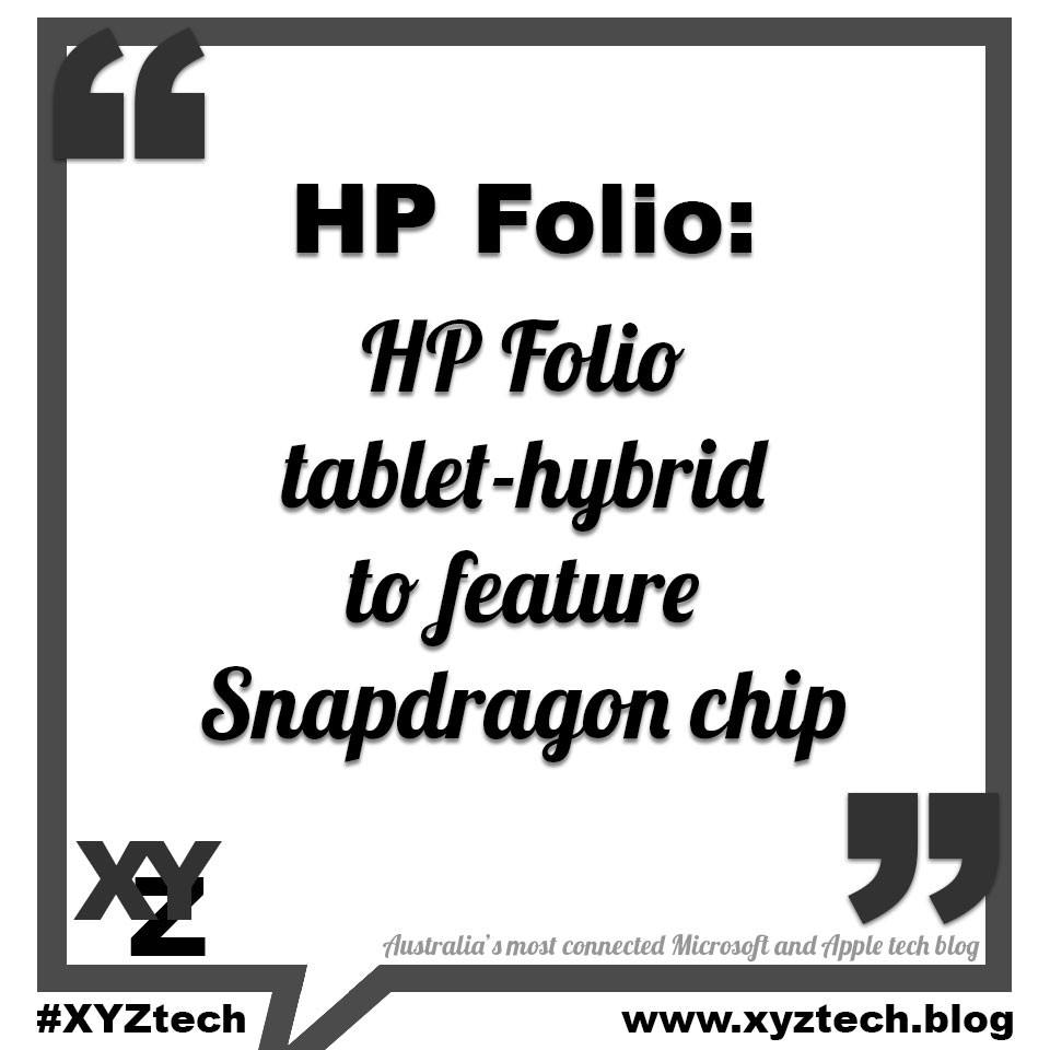 HP Folio to feature Snapdragon chip