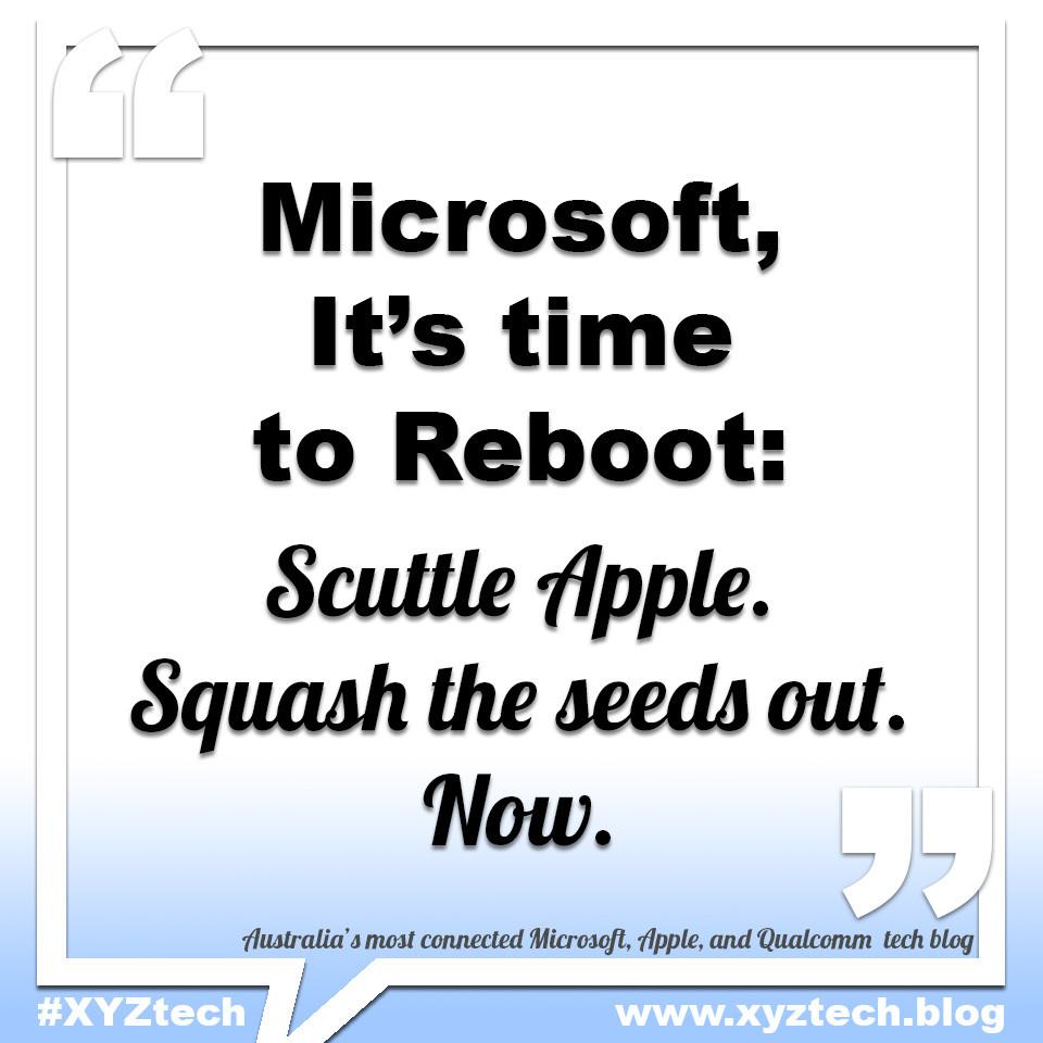 Microsoft Reboot #XYZtech