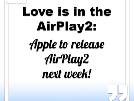 Apple to release AirPlay2 next week