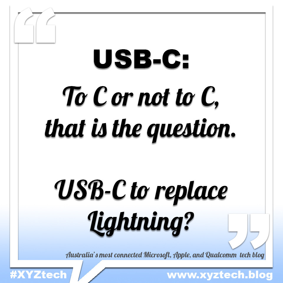 USB-C to replace Lightning?