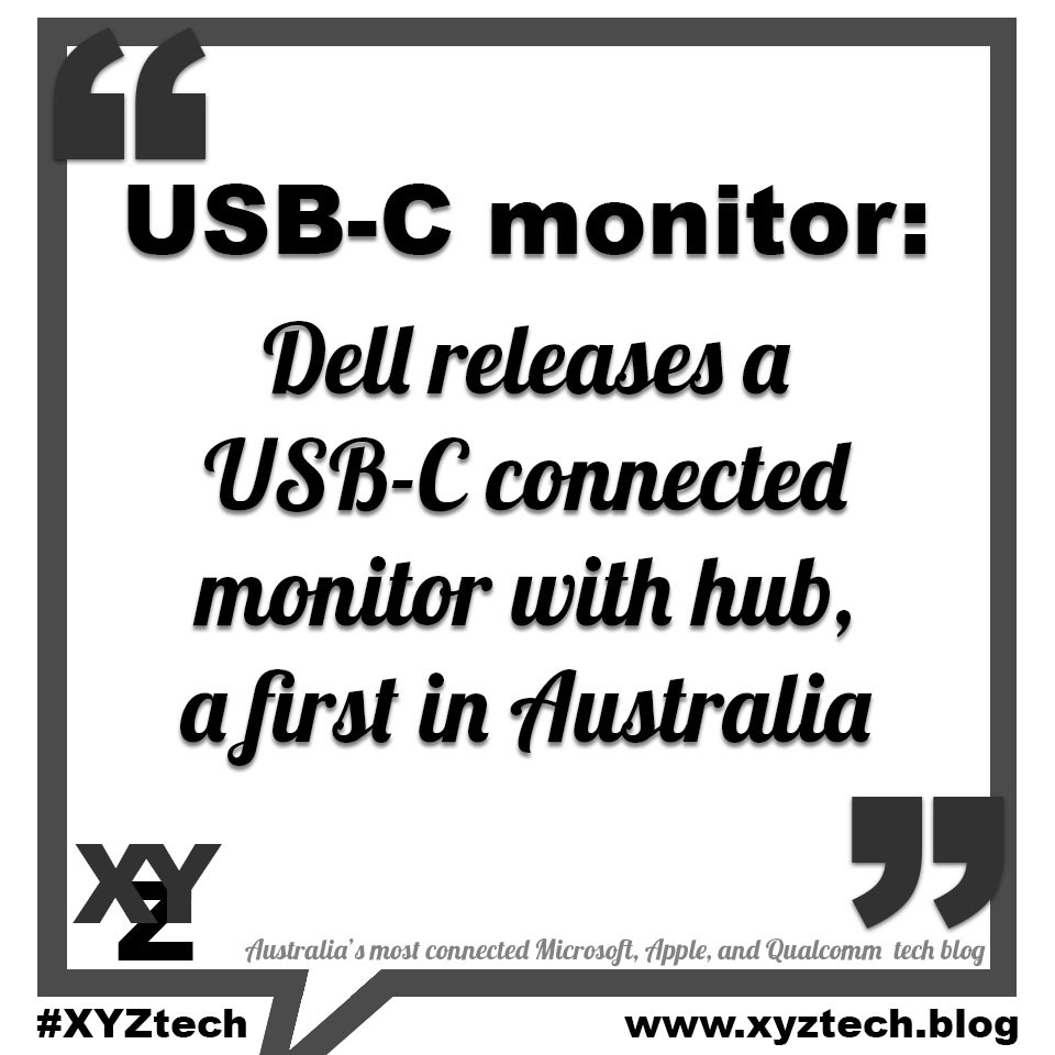 Dell releases a USB-C connected monitor
