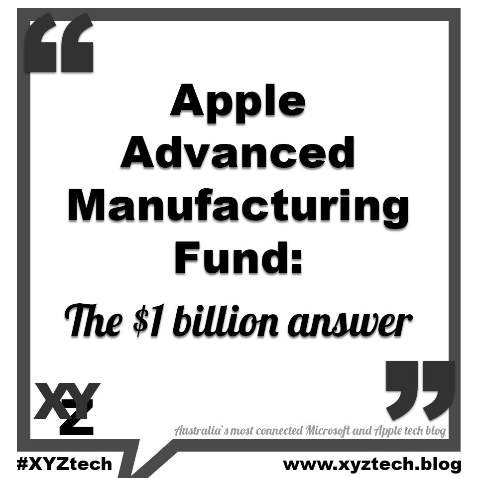 Apple Advanced Manufacturing Fund