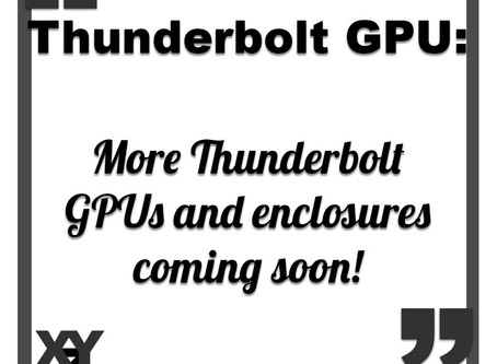 More Thunderbolt GPUs coming soon