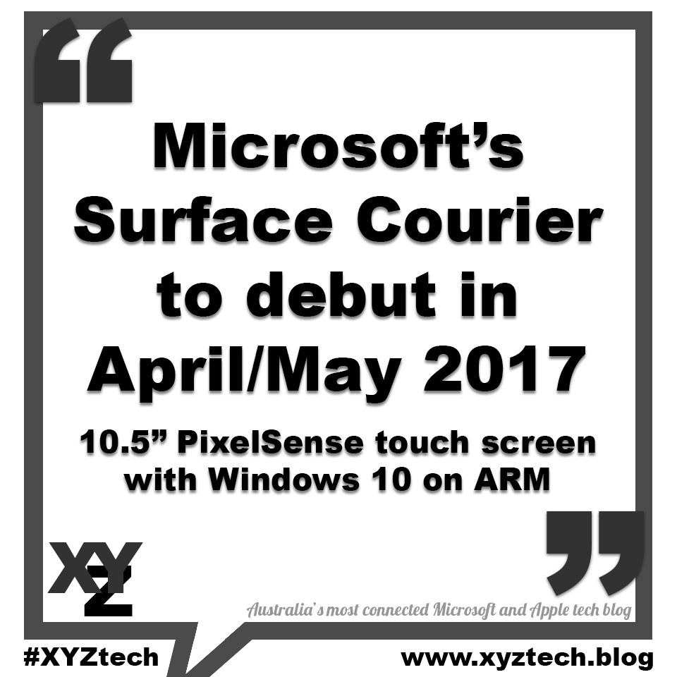 Surface Courier to debut in April/May 2017