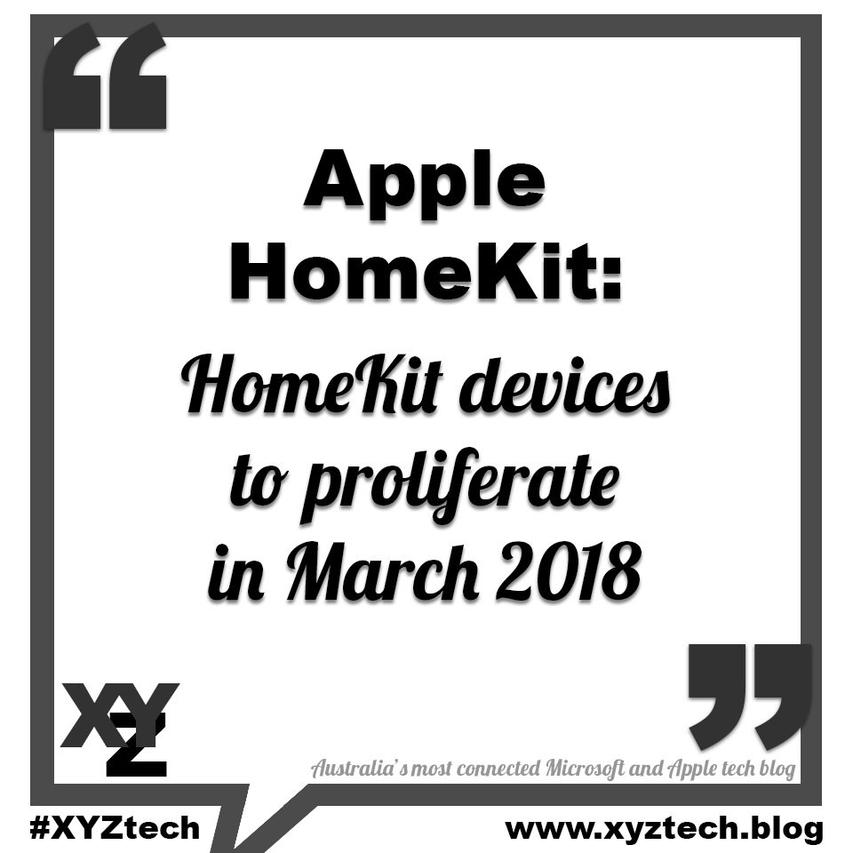 Apple HomeKit devices to proliferate in March 2018