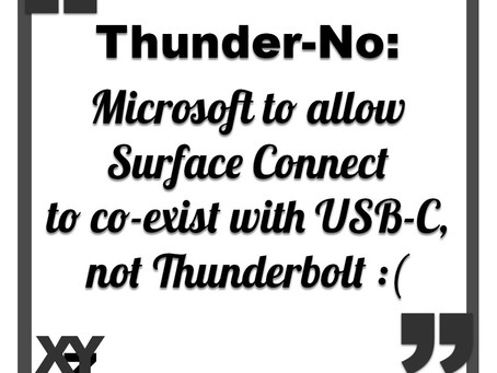 Surface Connect to co-exist with USB-C but not Thunderbolt