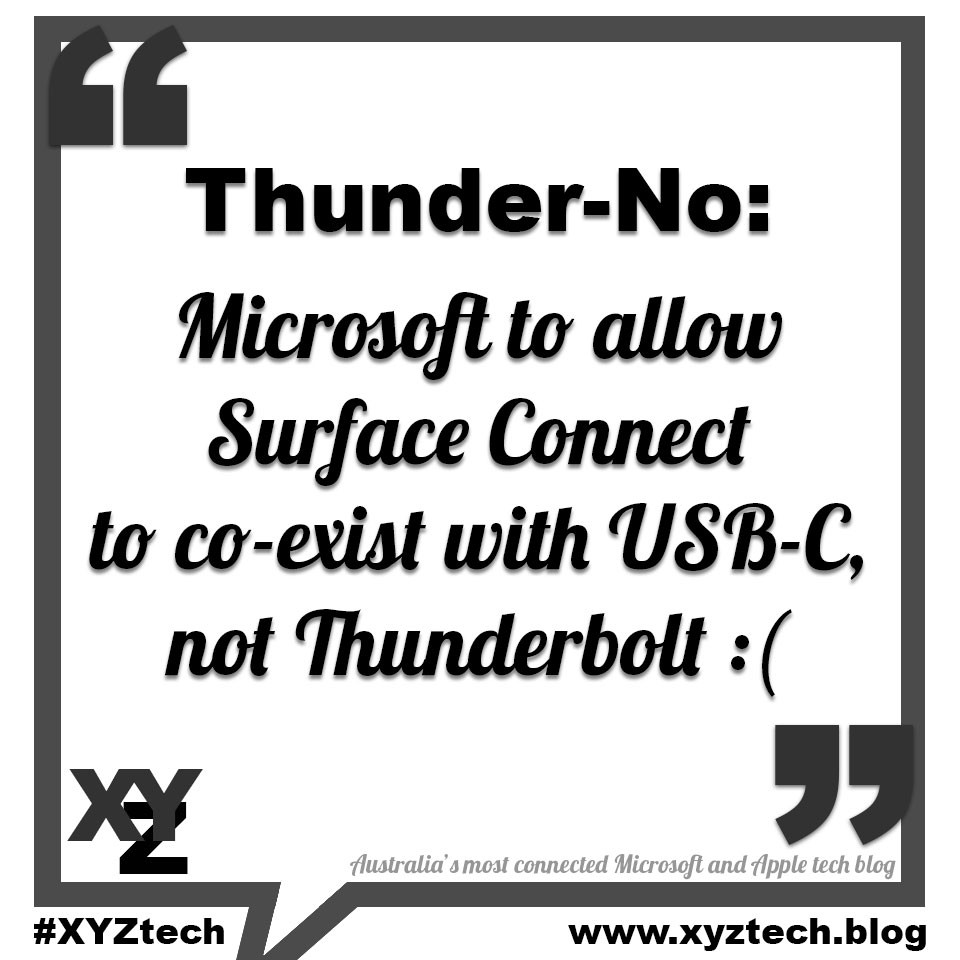 Microsoft to allow Surface Connect to co-exist with USB-C, not Thunderbolt