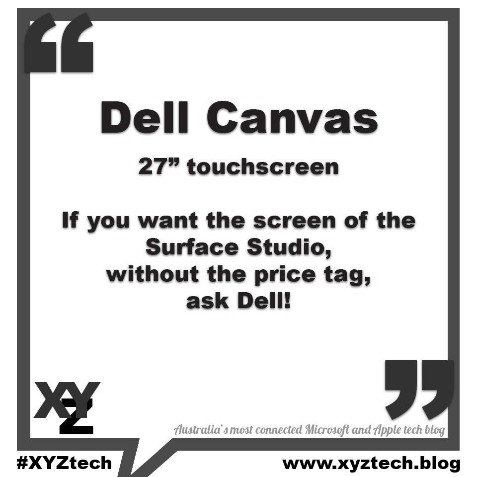 Dell Canvas touchscreen