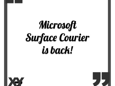 Microsoft Surface Courier is back